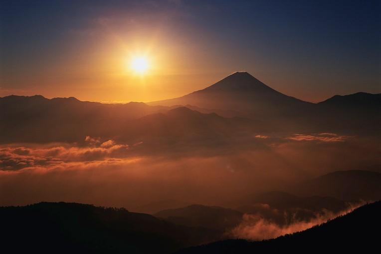 Sunrise Above Mount Fuji
